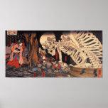 Mitsukuni Defying the Skeleton Spectre Poster