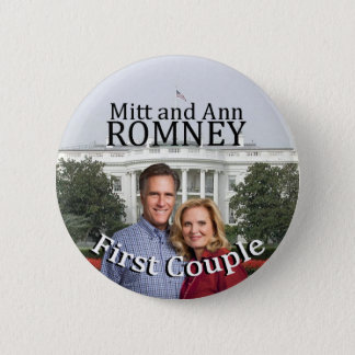 Mitt and Ann Romney First Couple 2 Inch Round Button