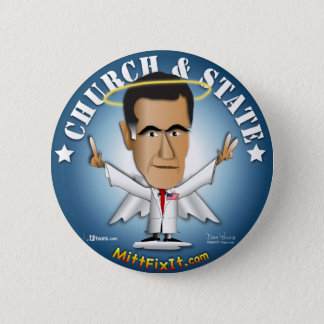 Mitt Fix It - Church and State 2 Inch Round Button