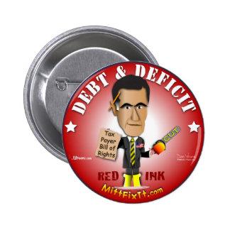 Mitt Fix It - Debt & Deficit 2 Inch Round Button