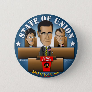 Mitt Fix It - State of Union 2 Inch Round Button