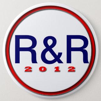 Mitt Paul R&R 6 Inch Round Button