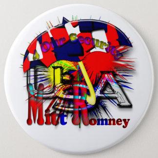 Mitt Romney 2012 6 Inch Round Button