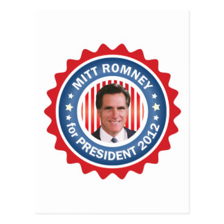Mitt Romney 2012 for US President Postcard