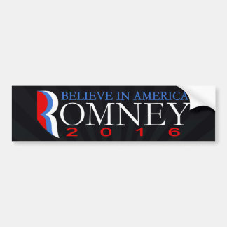 Mitt Romney 2016 Conservative Republican Political Bumper Sticker