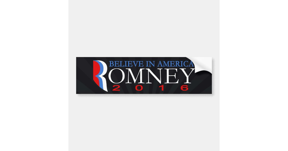 Republican Bumper Stickers Mitt Romney 2016 Conse...