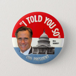 Mitt Romney 45th President 2 Inch Round Button