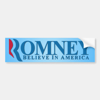 Mitt Romney - Believe In America Bumper Sticker