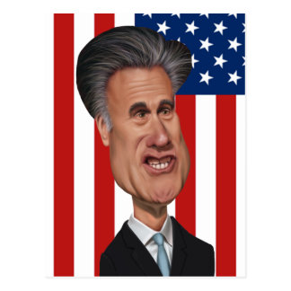 Mitt Romney Caricature USA Postcard