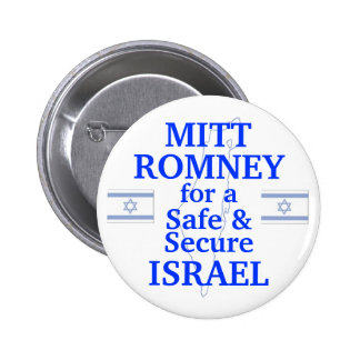 Mitt Romney for a safe Israel 2012 2 Inch Round Button