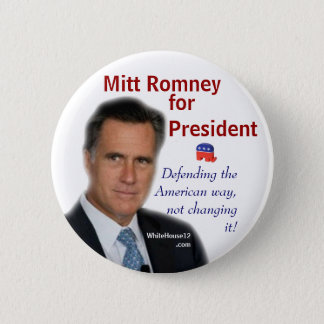 Mitt Romney for President 2 Inch Round Button