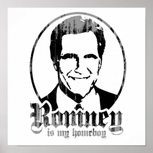 MITT ROMNEY IS MY HOMEBOY PRINT