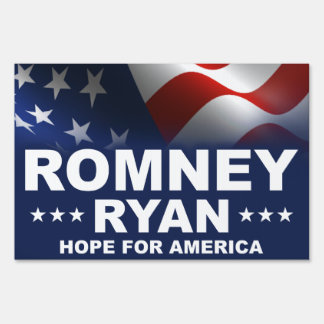 Mitt Romney Paul Ryan 2012 Sign