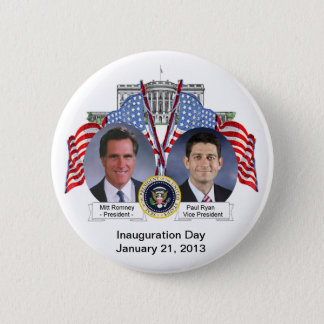 Mitt Romney Paul Ryan Inauguration Day Button