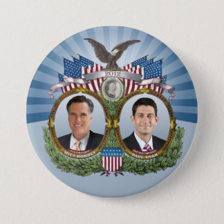 Mitt Romney Paul Ryan Jugate 3 Inch Round Button