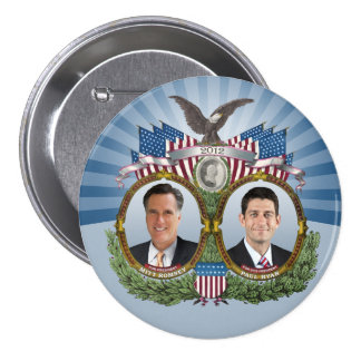 Mitt Romney Paul Ryan Jugate 3 Inch Round Button