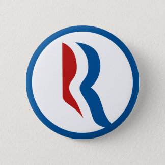 """Mitt Romney """"R"""" Logo 2 Inch Round Button"""