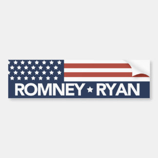 Mitt Romney Ryan Flag Bumper Sticker 2012