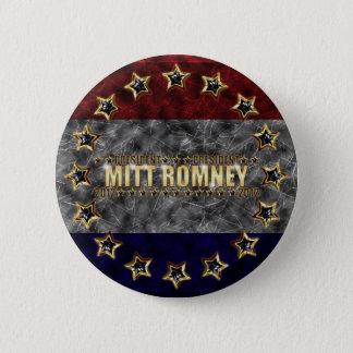 Mitt Romney Stars and Stripes. 2 Inch Round Button