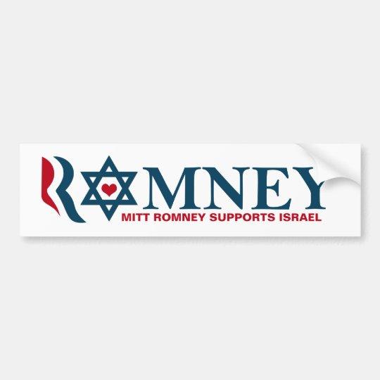 Mitt Romney Supports Israel Bumper Sticker