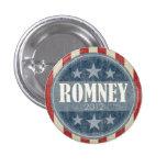 Mitt Romney  - vintage stars and stripes 1 Inch Round Button