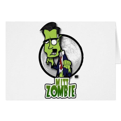 Mitt zombie greeting card zazzle