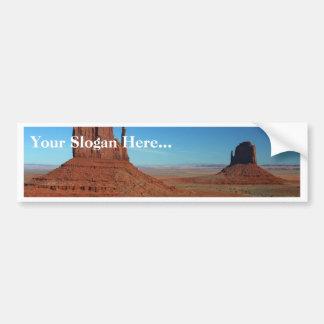 Mittens At Monument Valley Bumper Sticker