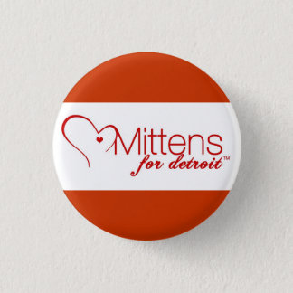 Mittens for Detroit Pinback Button