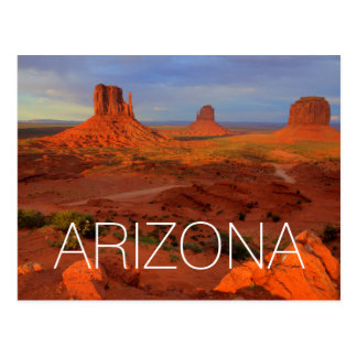 Mittens, Monument valley, AZ Postcard