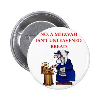 MITZVAH 2 INCH ROUND BUTTON