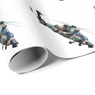 Miulitary Helicopterl Wrapping Paper