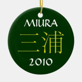 Miura Monogram Ceramic Ornament