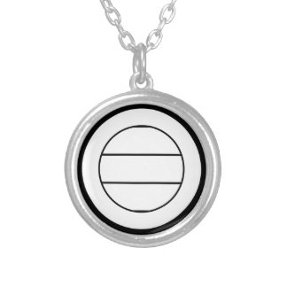 Miura three pulling silver plated necklace