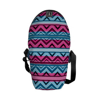 Mix #311 - Pink And Blue Aztec - Bag Commuter Bags