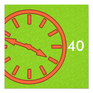Mix and Match Collection Analog Clock Face Dial Card