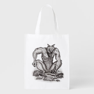 Mix-Creature - Troll, Golem and Devil Reusable Grocery Bag
