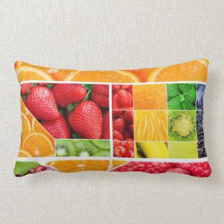 Mix FRuit Collage Lumbar Pillow
