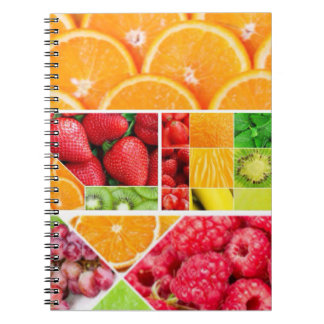 Mix FRuit Collage Notebook