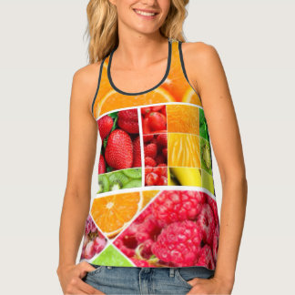 Mix FRuit Collage Tank Top