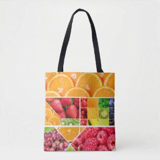 Mix FRuit Collage Tote Bag