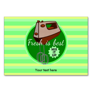Mix it up Hand Mixer Retro Design Table Cards