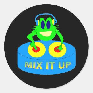 Mix It Up Round Sticker