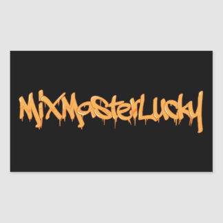 Mix Master Lucky Lettering Logo Sticker