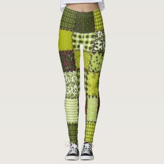 Mix Match Plaid Leggings