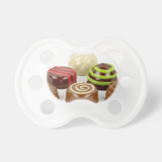 Mix of chocolate candies pacifier