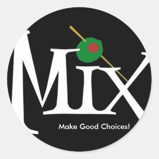Mix sticker- black choices round sticker
