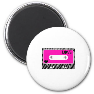 Mix Tape Love 2 Inch Round Magnet