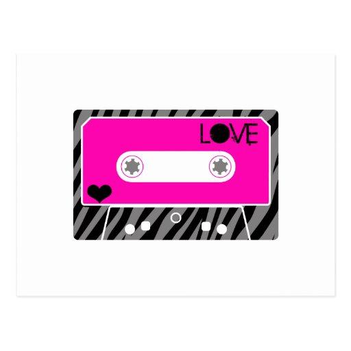 Mix Tape Love Postcard