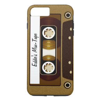 Mix Tape Personalized Gold iPhone 7 Plus Case
