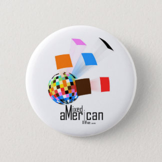 Mixed American Life 2 Inch Round Button